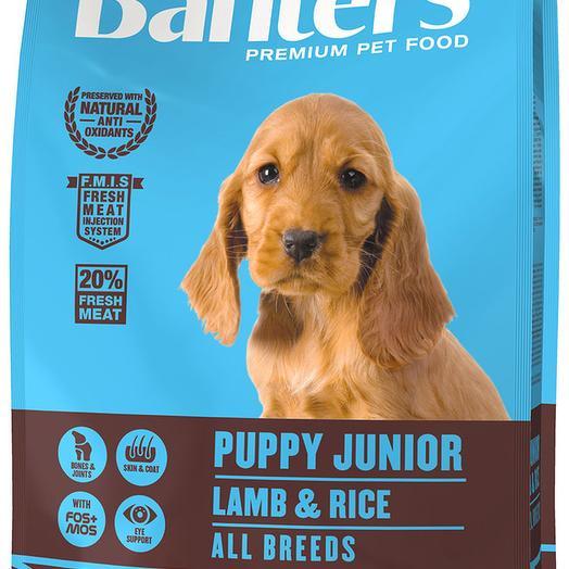 Banters Puppy Junior ягненок с рисом сухой корм для щенков 3 кг