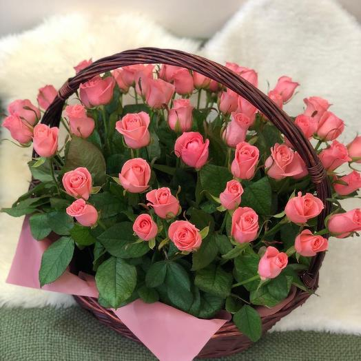 Корзина с цветами «Каприз»