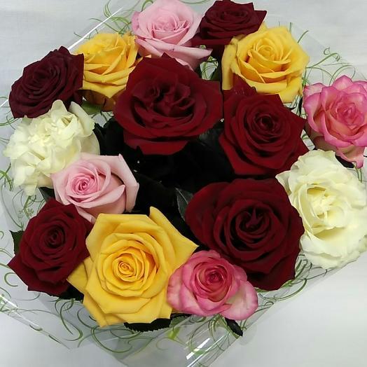 Радужный микс роза