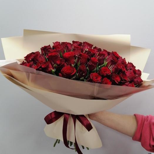 Бархатное облачко️ 51 роза