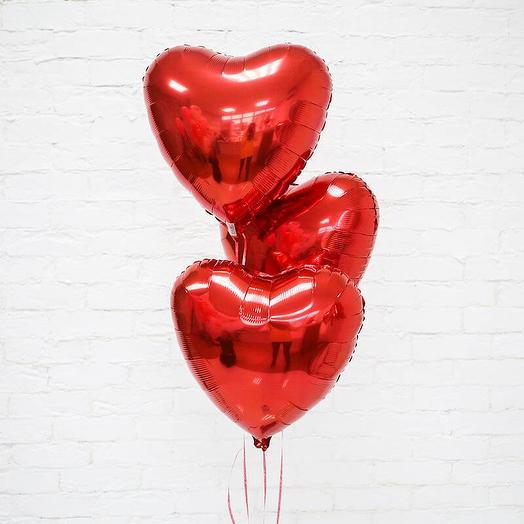 """Фольгированный шар """" 3 сердца"""""""