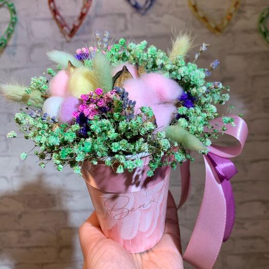 Сухоцветы в стакане