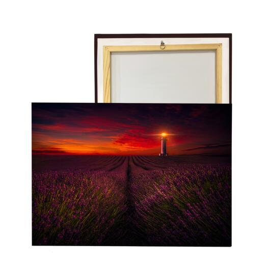 Картина «Лавандовое поле и маяк»