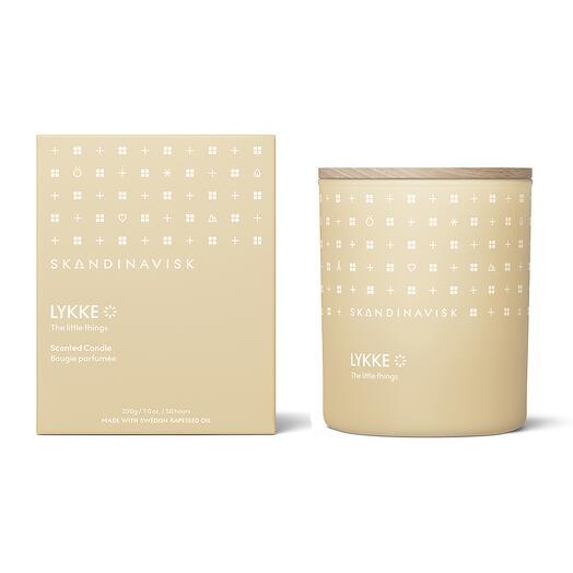 Свеча ароматическая lykke с крышкой, 200 г (новая)  S K A N D I N A V I S K SK20108