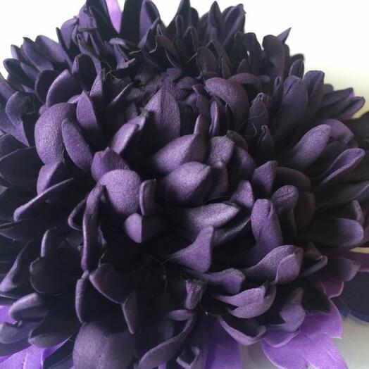 """Заколка из фоамирана  """"Фиолетовый георгин"""""""