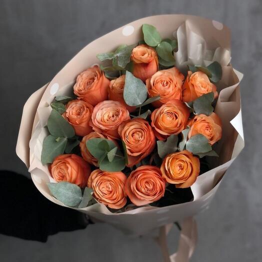 15 пионовидных роз Кахала