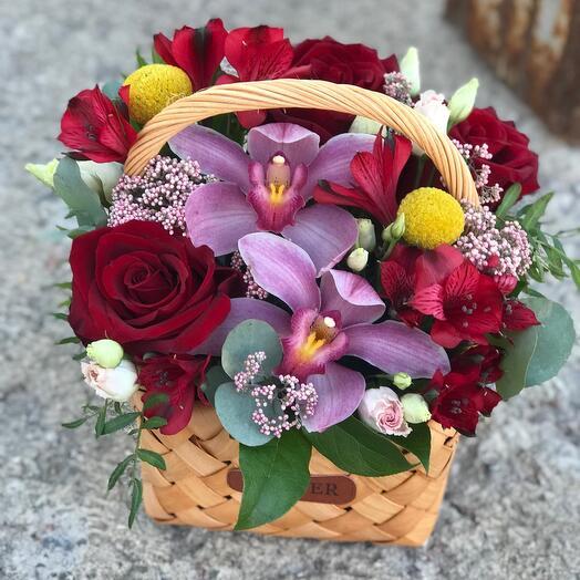 Корзина с цветами Грация