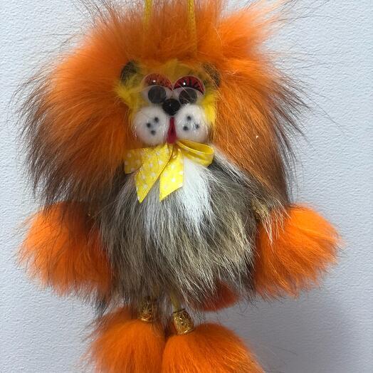 Львёнок - Игрушка из натурального меха ручной работы