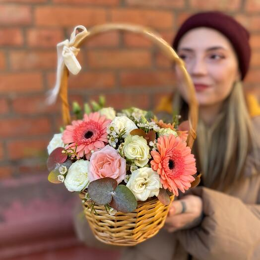 Корзина с цветами «Осенний Блюз»