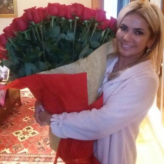 101 голландская роза метровая