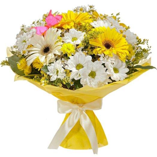 """Букет """"Солнечные ромашки"""". Код 180055: букеты цветов на заказ Flowwow"""