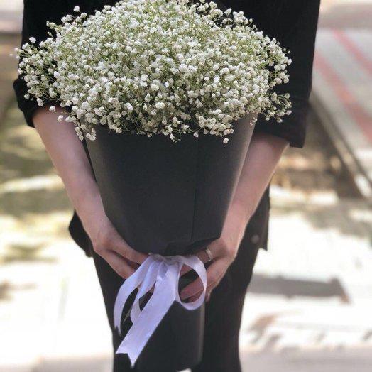 Стильный букет из гипсофилы: букеты цветов на заказ Flowwow