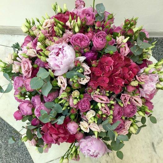 Роскошный букет с пионами : букеты цветов на заказ Flowwow