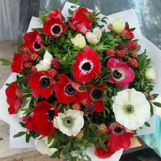 Ягодно-цветочный флай: букеты цветов на заказ Flowwow