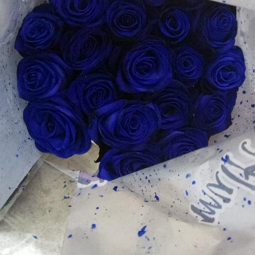 Синяя роза 11 штук : букеты цветов на заказ Flowwow