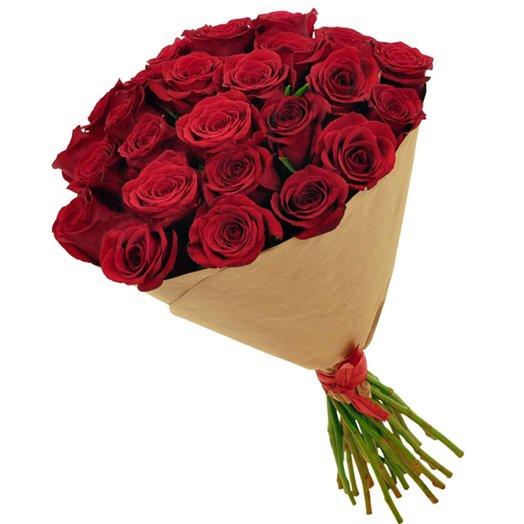 Букет из 25 красной розы: букеты цветов на заказ Flowwow
