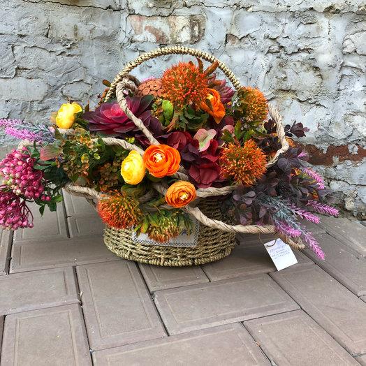 Осенние краски (искусственные Цветы): букеты цветов на заказ Flowwow