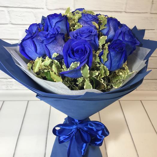 Букет с 15 синих роз: букеты цветов на заказ Flowwow