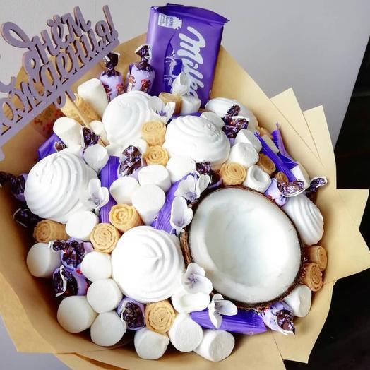 Сладкий букет «кокос»: букеты цветов на заказ Flowwow