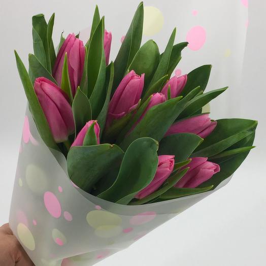 11 розовых тюльпанов: букеты цветов на заказ Flowwow