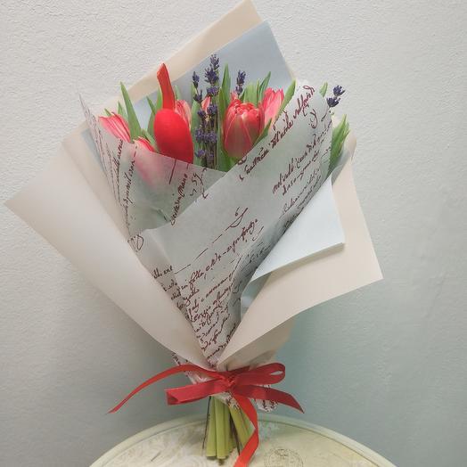 """Любовное послание"": букеты цветов на заказ Flowwow"