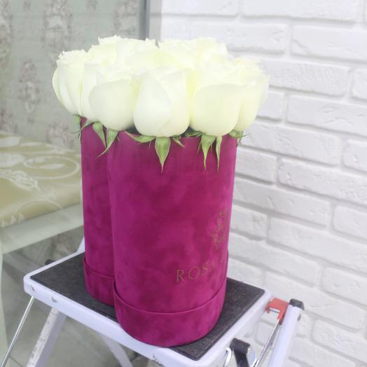 До 23 белых эквадорских роз в коробке сердце: букеты цветов на заказ Flowwow