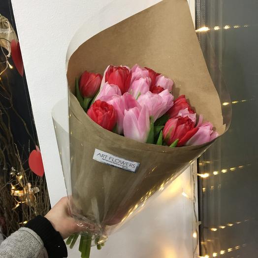 Тюльпаны пионовидные: букеты цветов на заказ Flowwow