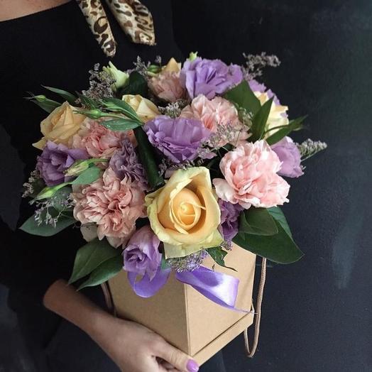 Лавандовая коробочка: букеты цветов на заказ Flowwow