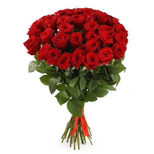 Букет 35 красных роз 60/70 см: букеты цветов на заказ Flowwow