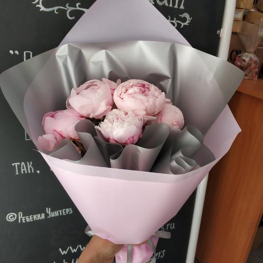 Стильные пионы: букеты цветов на заказ Flowwow