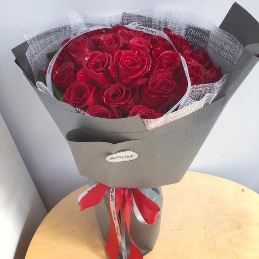 Classical rose bouquet: flowers to order Flowwow