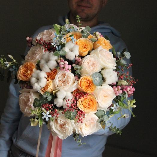 Хлопковый: букеты цветов на заказ Flowwow