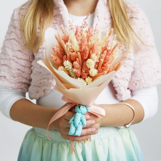 """2 """"Ванильно-персиковый"""" (детский): букеты цветов на заказ Flowwow"""