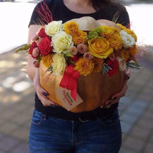 Осенняя тыква: букеты цветов на заказ Flowwow