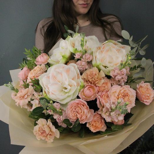 Персиковое пралине: букеты цветов на заказ Flowwow