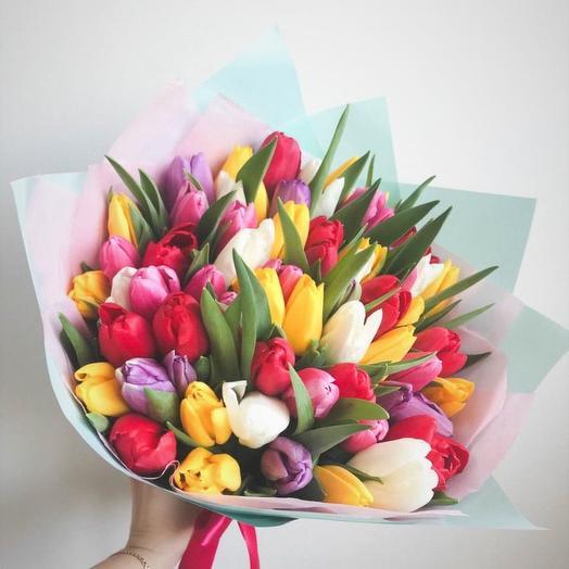 61 тюльпан: букеты цветов на заказ Flowwow