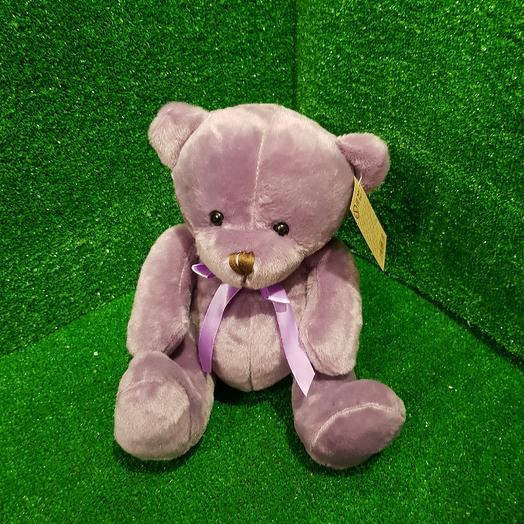 Фиолетовый мишка 25 см