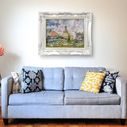 """Картина """"Вид со двора"""": букеты цветов на заказ Flowwow"""