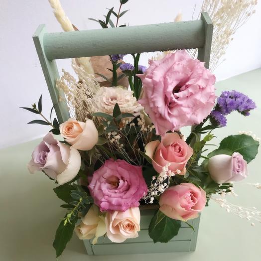 Ящичек 1: букеты цветов на заказ Flowwow