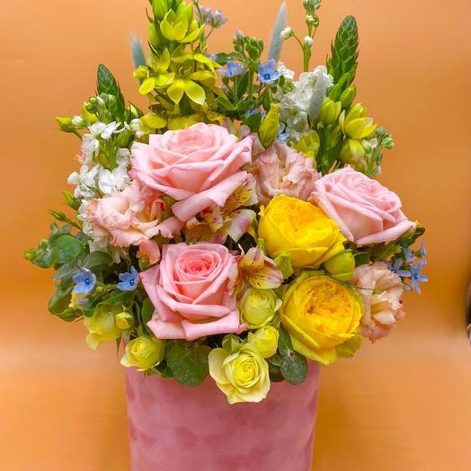 Коробка Радость: букеты цветов на заказ Flowwow
