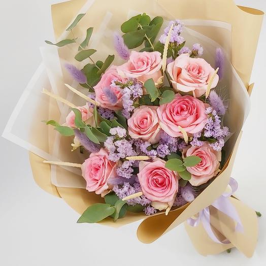Поздравляю: розовые розы