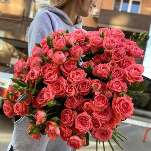 Кустовая Роза 70 см