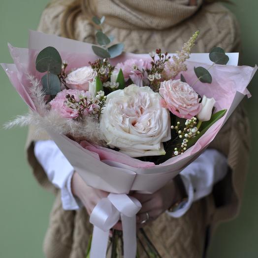 Авторский букет «Душистый розовый сад»
