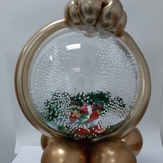 Подарок в шаре с декором