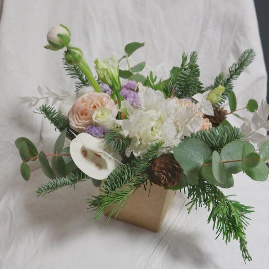 Цветочки в коробочке