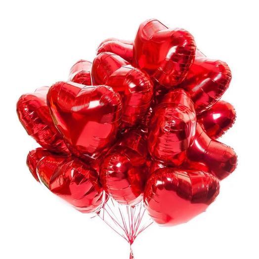 Шарики «сердце» фольгированные