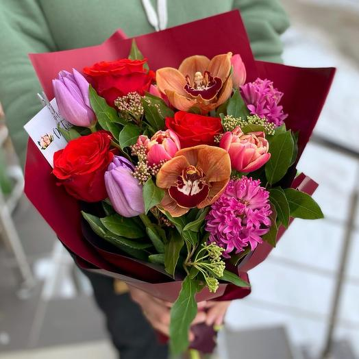 Букетик с орхидеей