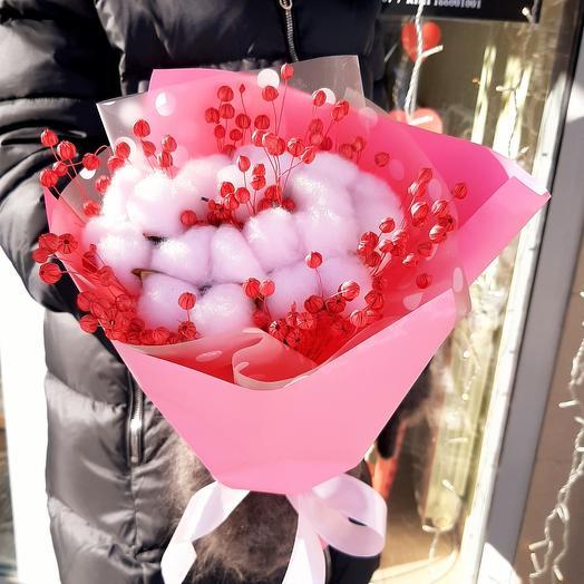 """Букет из сухоцветов """"Розовый фламинго"""""""
