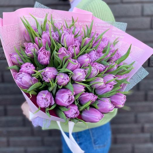 Пионовидные тюльпаны 49шт