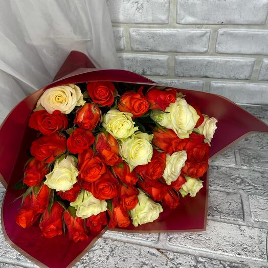 Моно букет из 39 роз